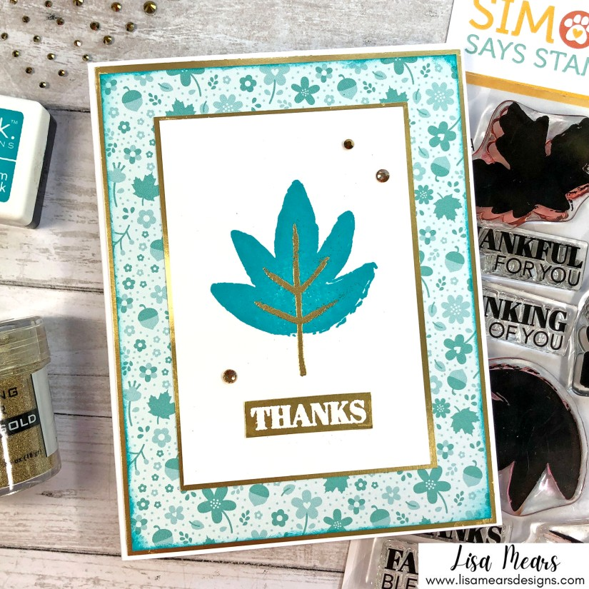 Simon Says Stamp - Painted Leaves - Stamptember Release