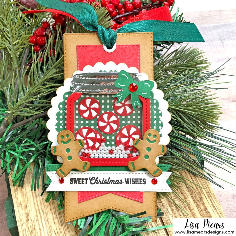 Queen & Co Holiday Jar Shaker Kit - 10 Cards 1 Kit - Christmas Tag