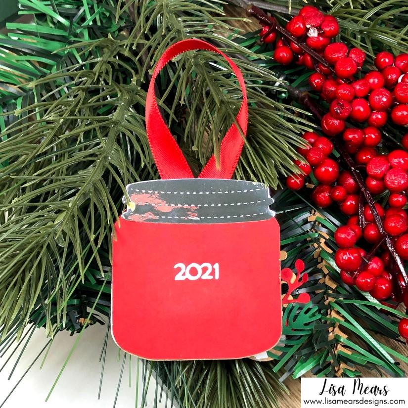 Queen & Co Holiday Jar Shaker Kit - 10 Cards 1 Kit - Christmas Shaker Ornament