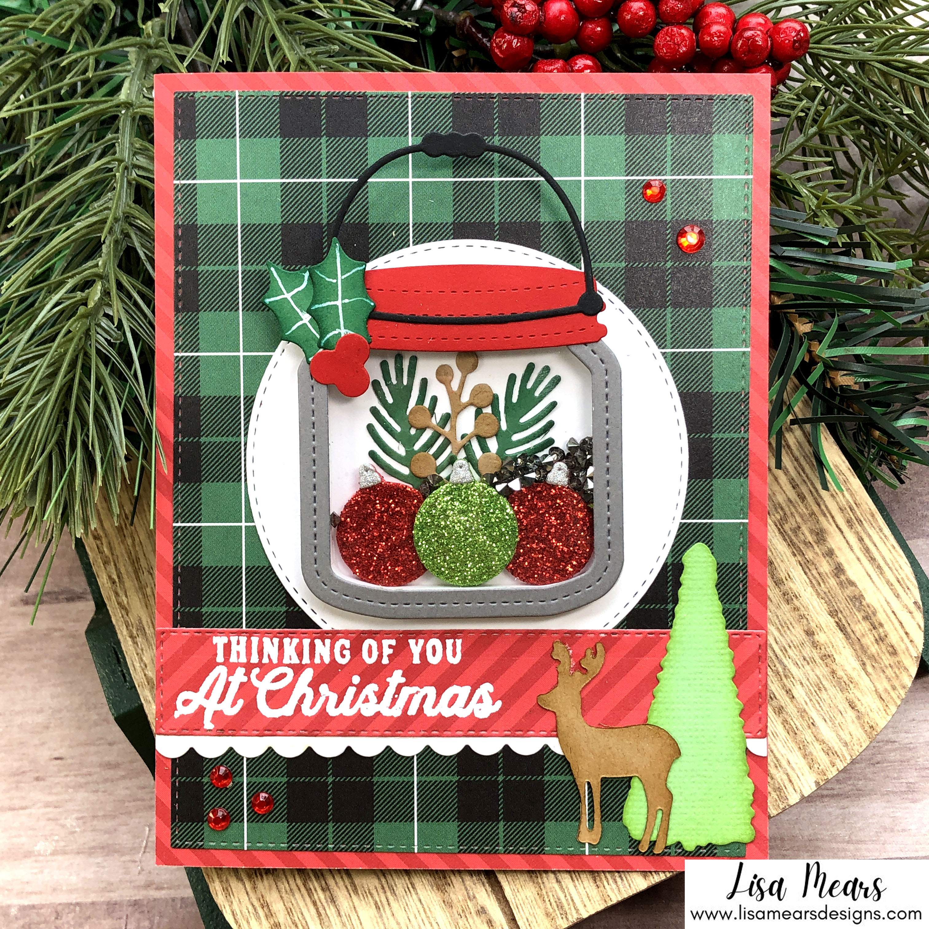 Queen & Co Holiday Jar Shaker Kit - 10 Cards 1 Kit - Christmas Shaker Card