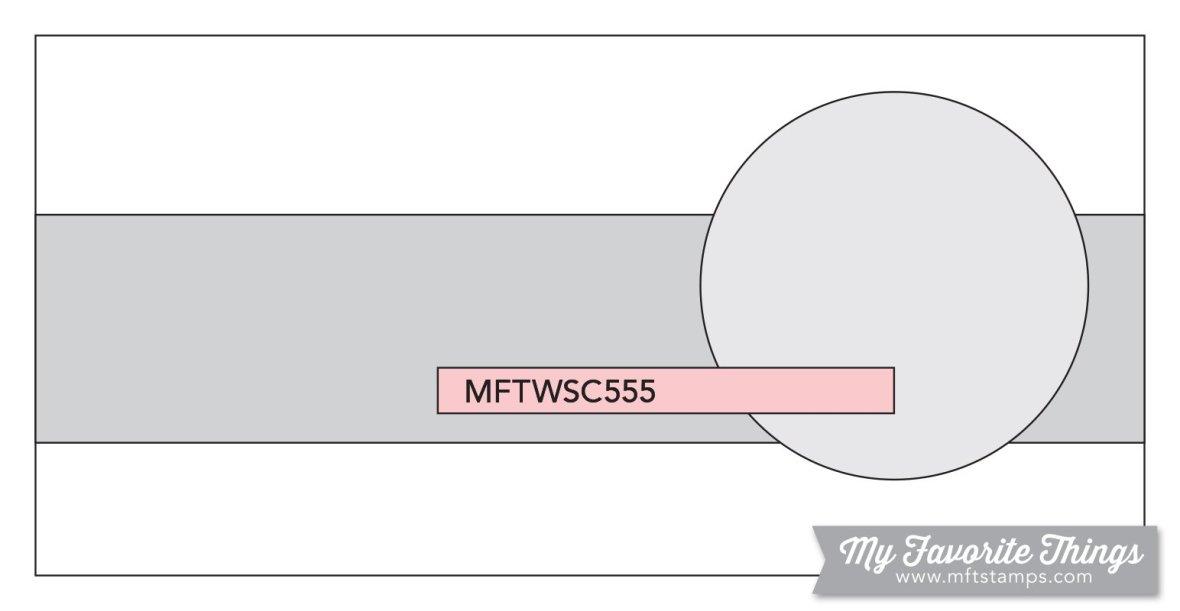 MFT WSC 555 Sketch - Mini Slimline Card Sketch