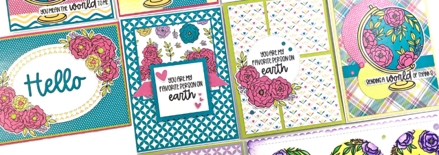 Pink and Main Crafty Courtyard Kit August 2021 - 10 Cards 1 Kit