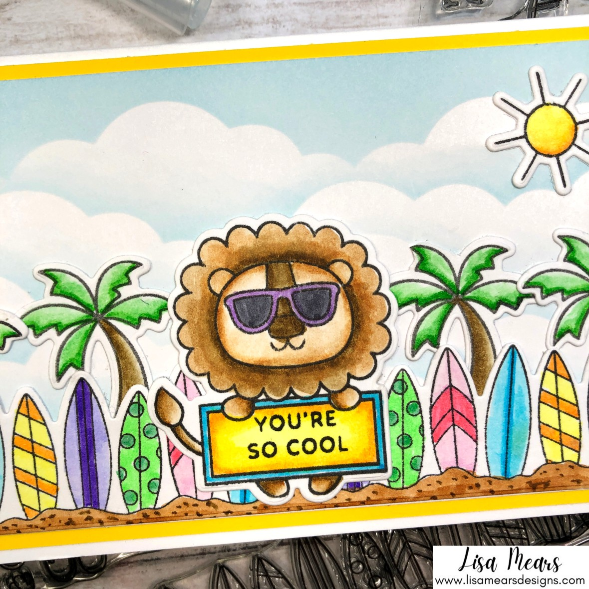 Pretty Pink Posh Summer Card - Summer Fun and Summer Borders