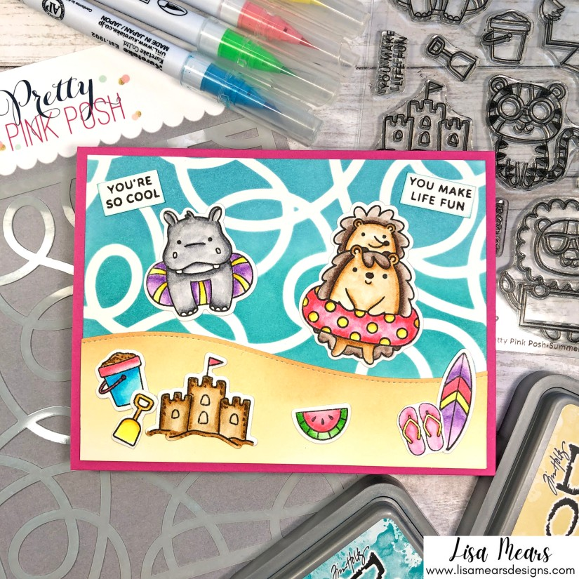 Pretty Pink Posh Summer Card