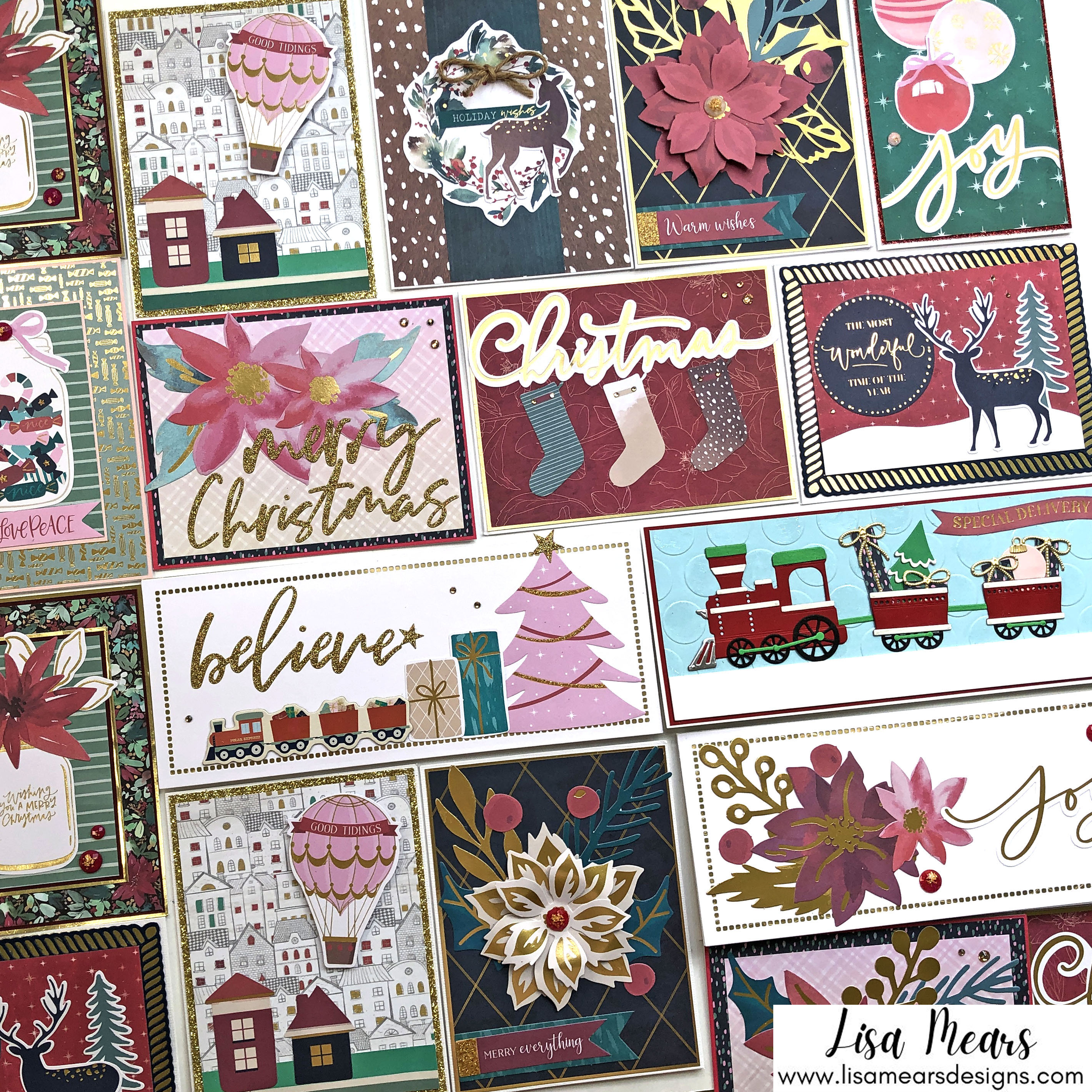 Spellbinders All Aboard Christmas Kit - 20 Cards