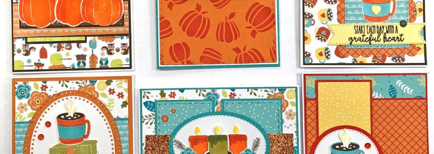Pink and Main Pumpkin Season Card Kit - 6 cards 1 kit