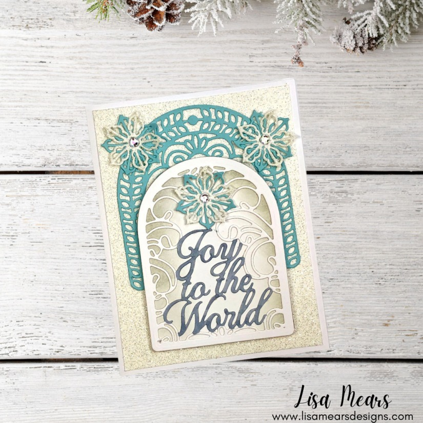 Spellbinders - Holiday Medley Collection by Becca Feeken - Joy Crescent Card Builder - Christmas Card