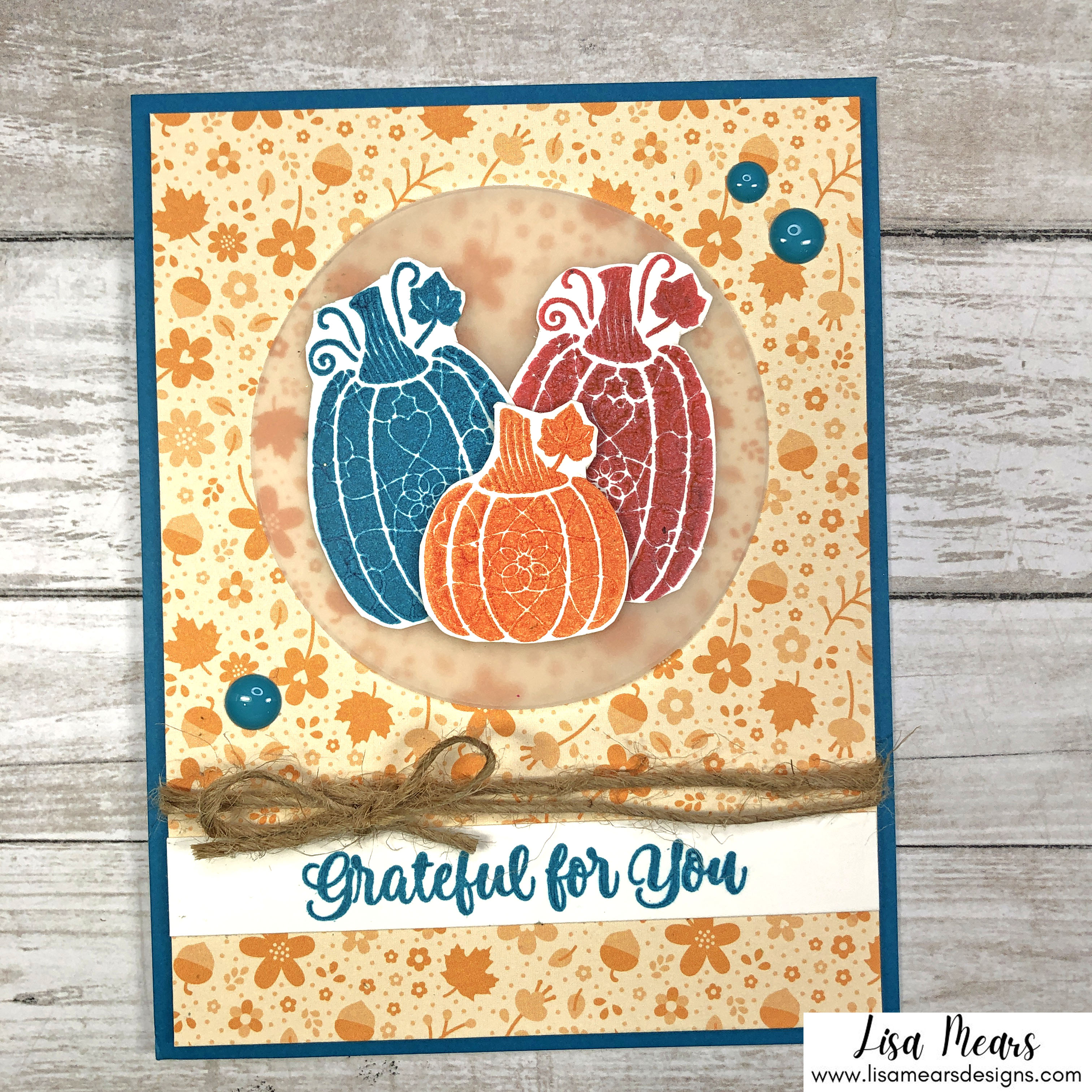 Spellbinders Fall Traditions Collection - Charming Pumpkins Stamp Set