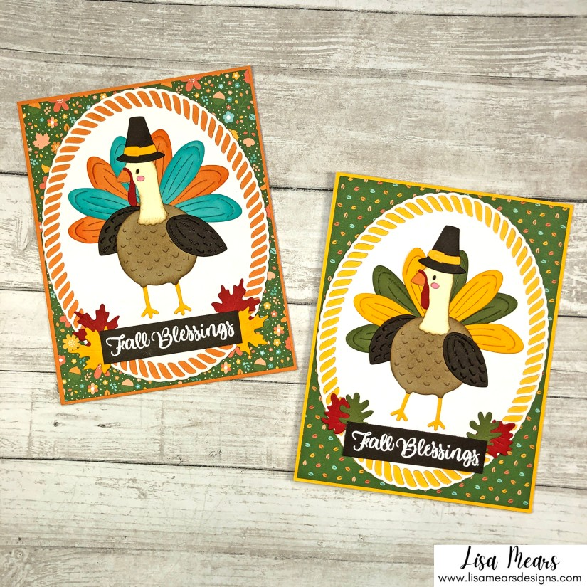 Spellbinders Fall Traditions Collection - Happy Turkey Day Card
