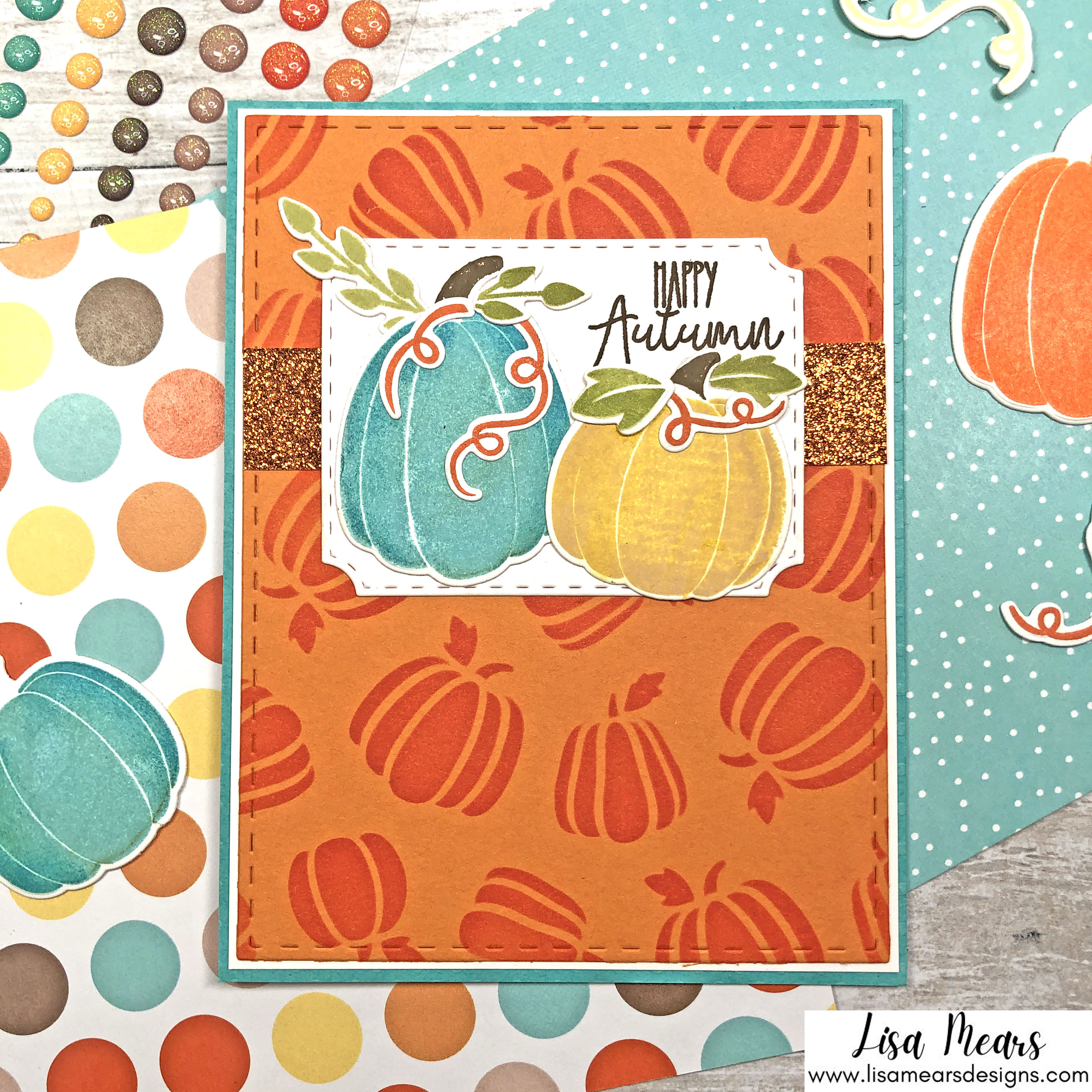 Pink and Main Crafty Courtyard Kit - September 2021 - Pumpkin Season Card 4
