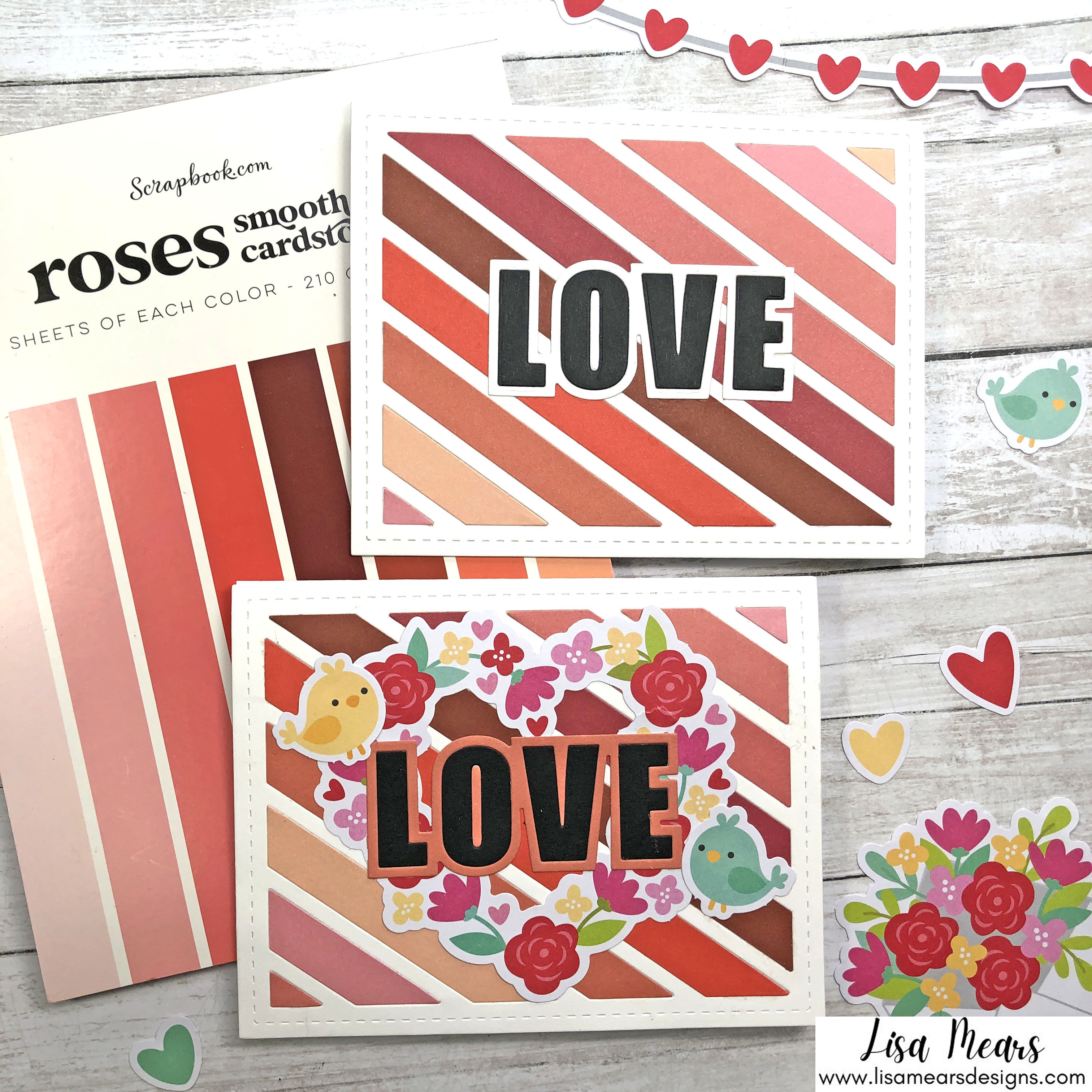 Ombre Background on Cards