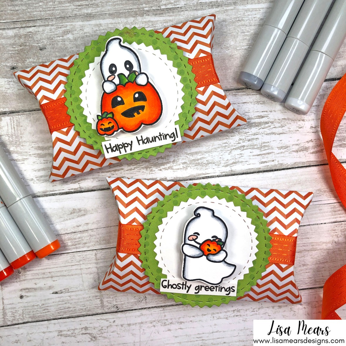 Pink and Main - Hello Bootiful - Halloween Treat Box with Ghost