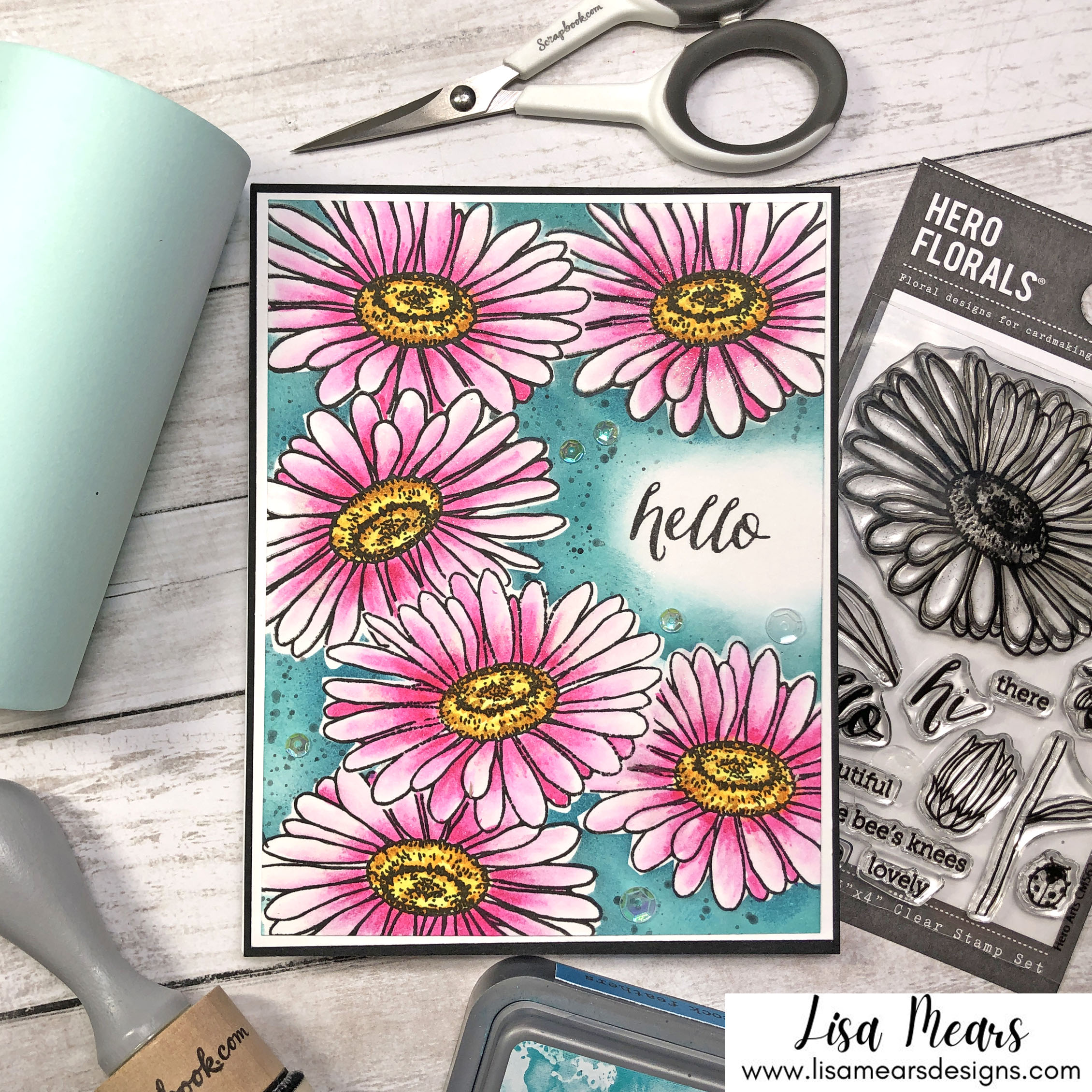 Masking Technique for Cardmaking with Scrapbook.com Mint Tape