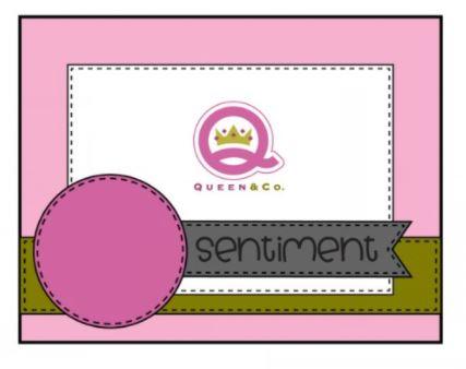 Queen & Co Card sketch 41