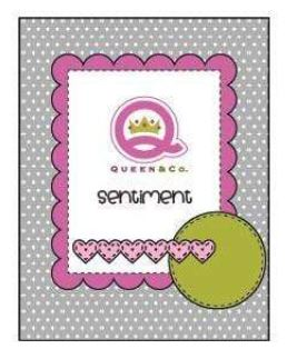 Queen & Co Card sketch 42 Found 10