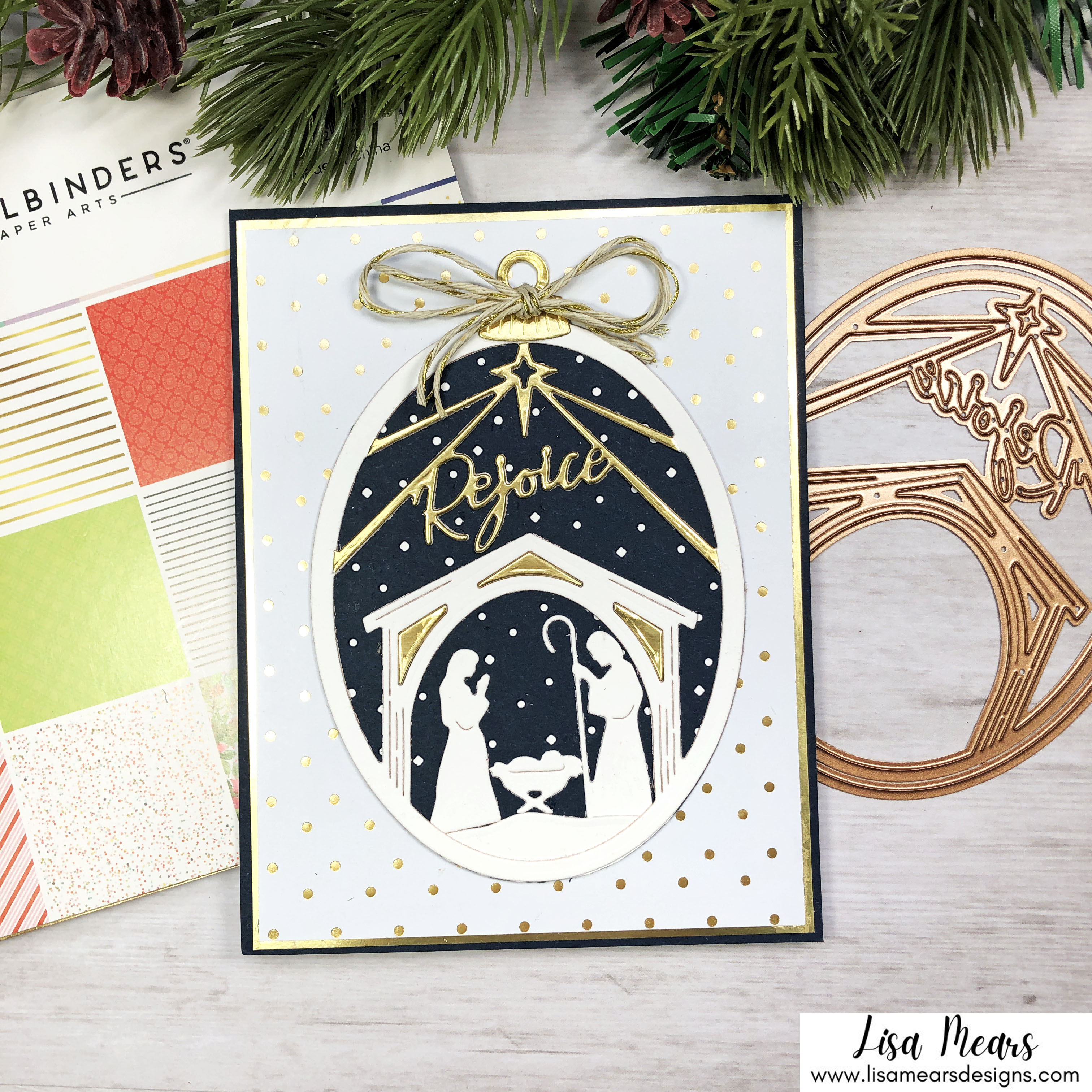 Spellbinders Christmas Traditions Collection - Rejoice Nativity Card