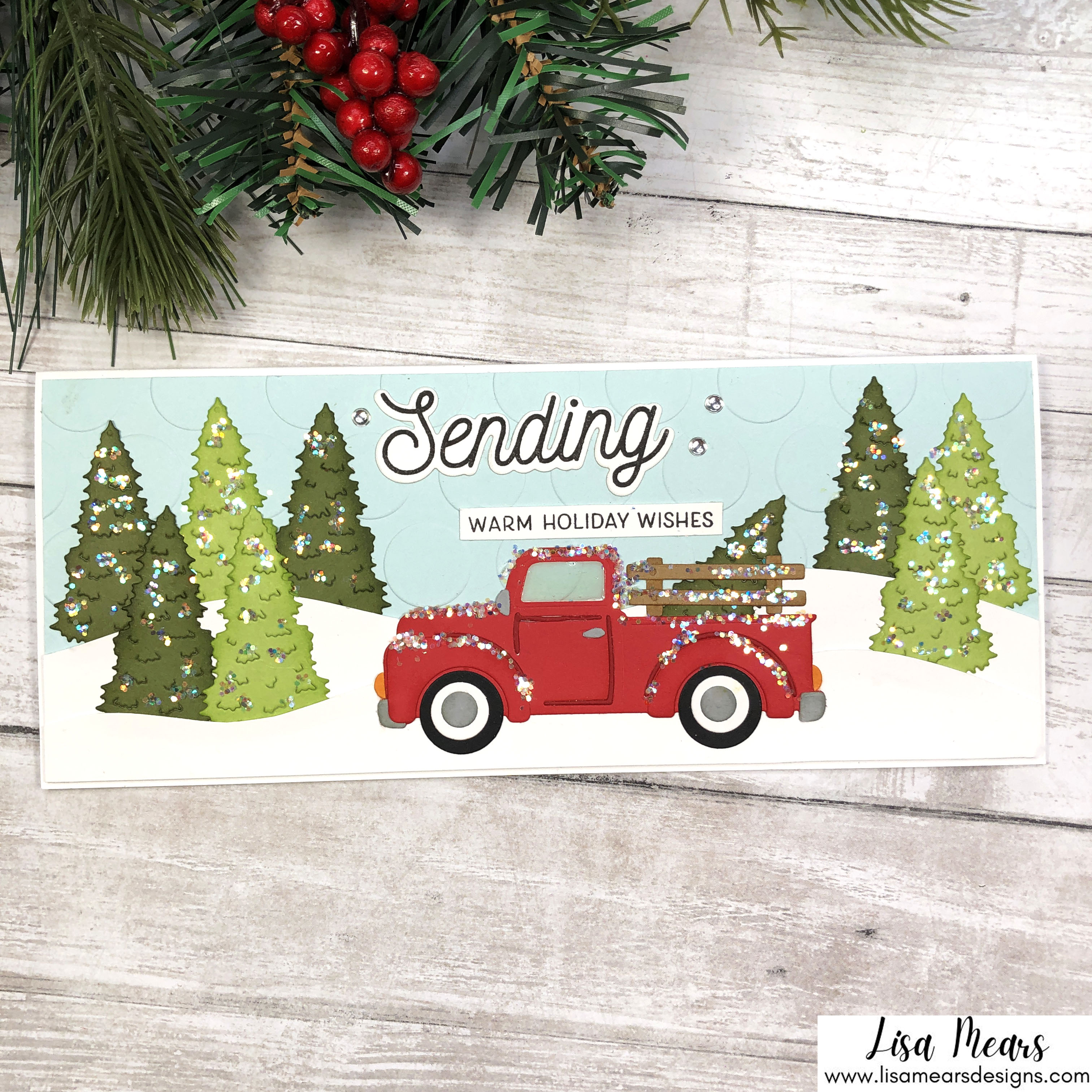 Spellbinders Small Die of the Month October 2021 - Old Fashioned Pick up Truck Slimline Card