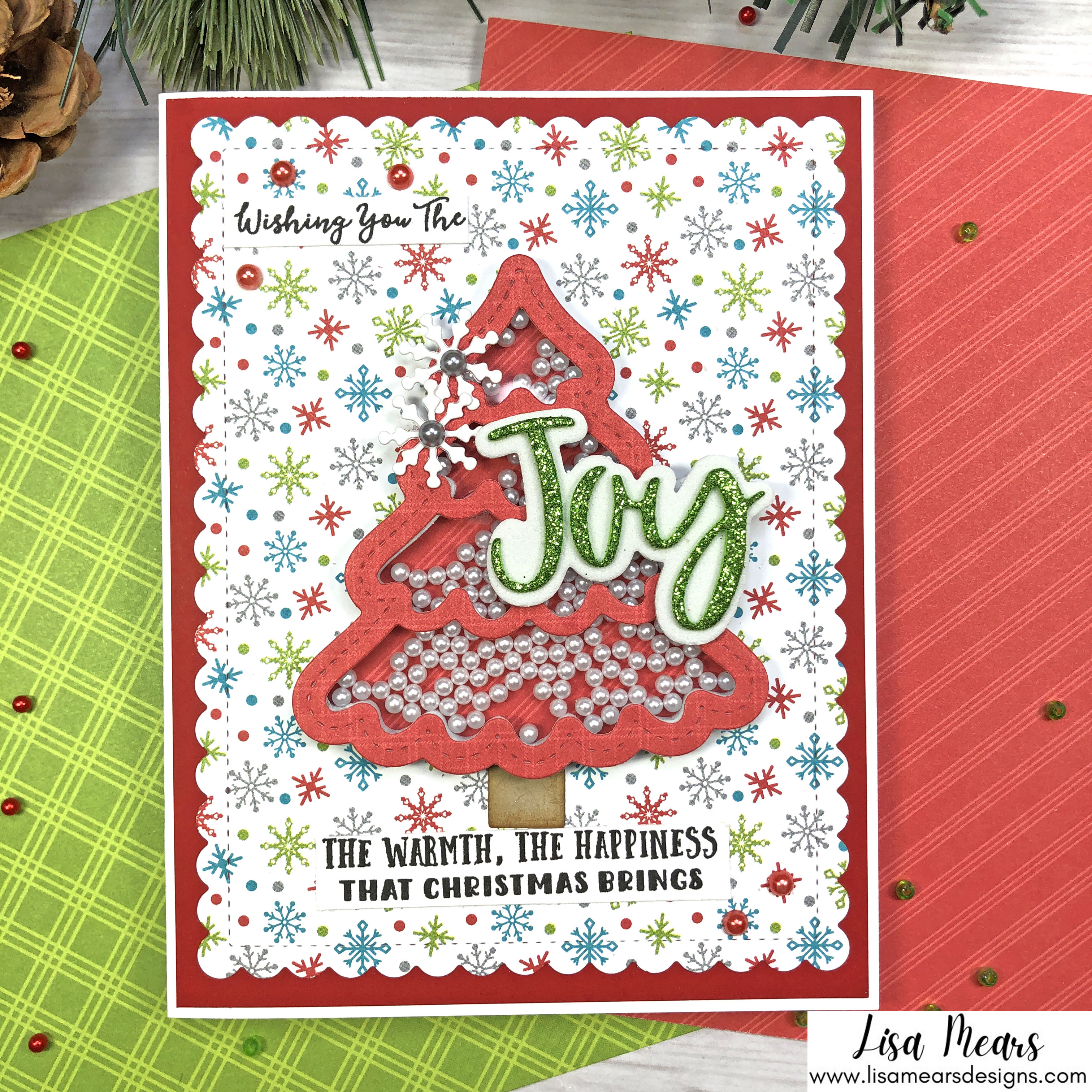 Queen and Company Jolly Jingles Shaker Kit - 10 Cards 1 Kit - Shaker Cards