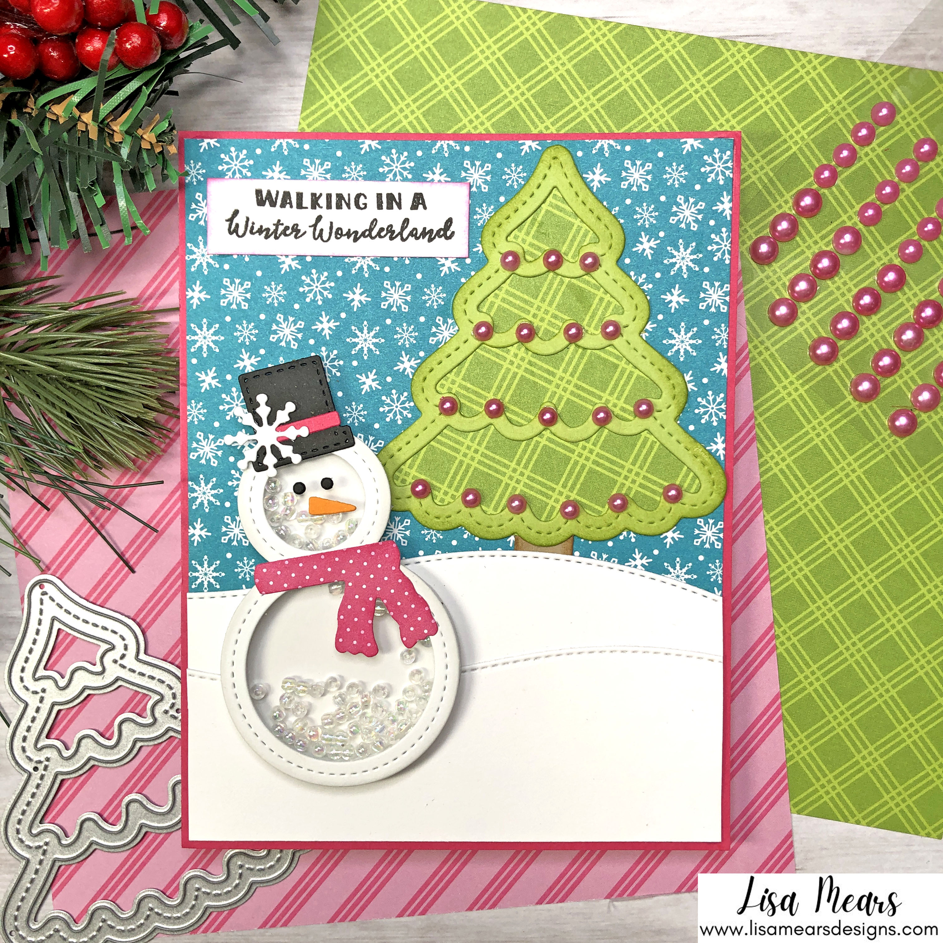 Queen and Company Jolly Jingles Shaker Kit - 10 Cards 1 Kit - Snowman Shaker Card