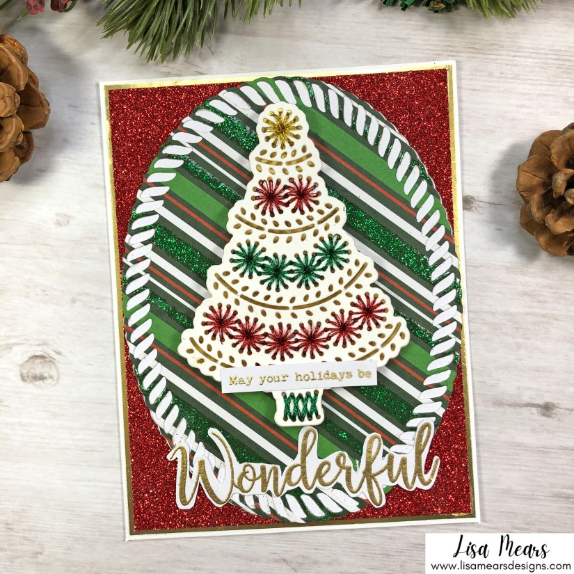 Spellbinders Merry Stitchmas - Christmas Tree Card