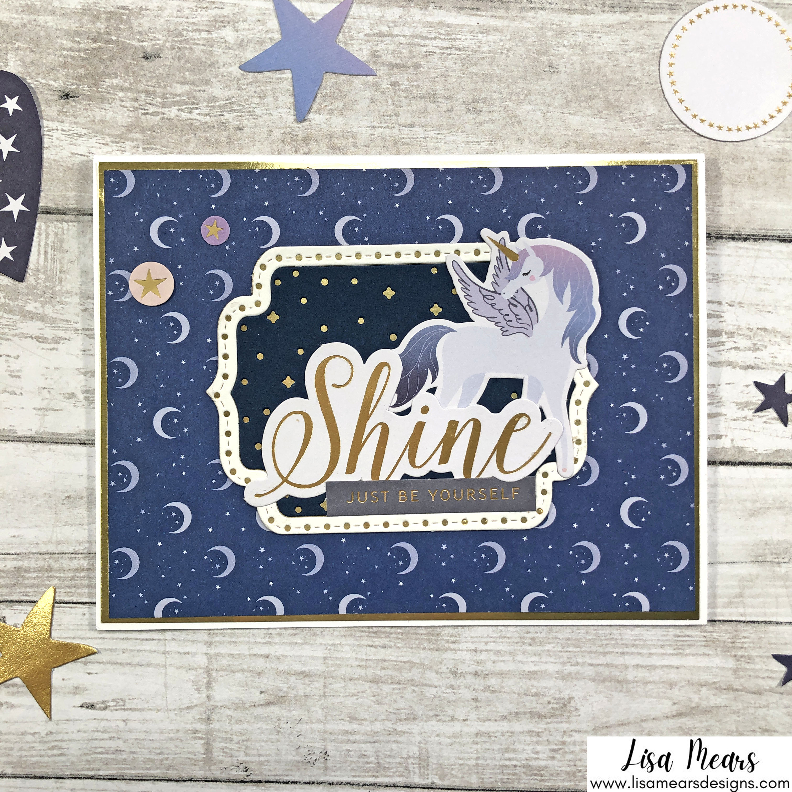 Spellbinders October 2021 Card Kit - You are Stellar! Unicorn Card