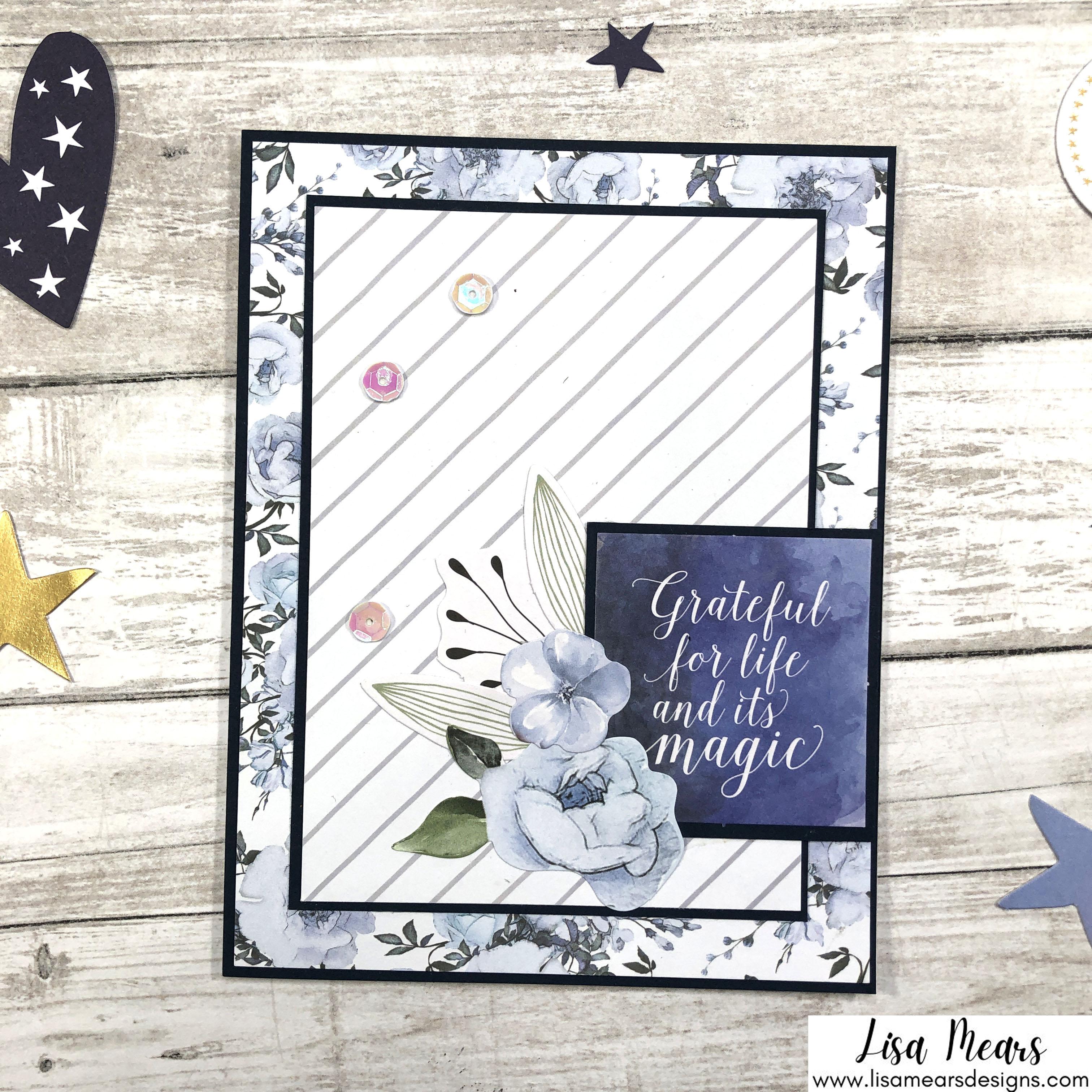 Spellbinders October 2021 Card Kit - You are Stellar! Flower Card