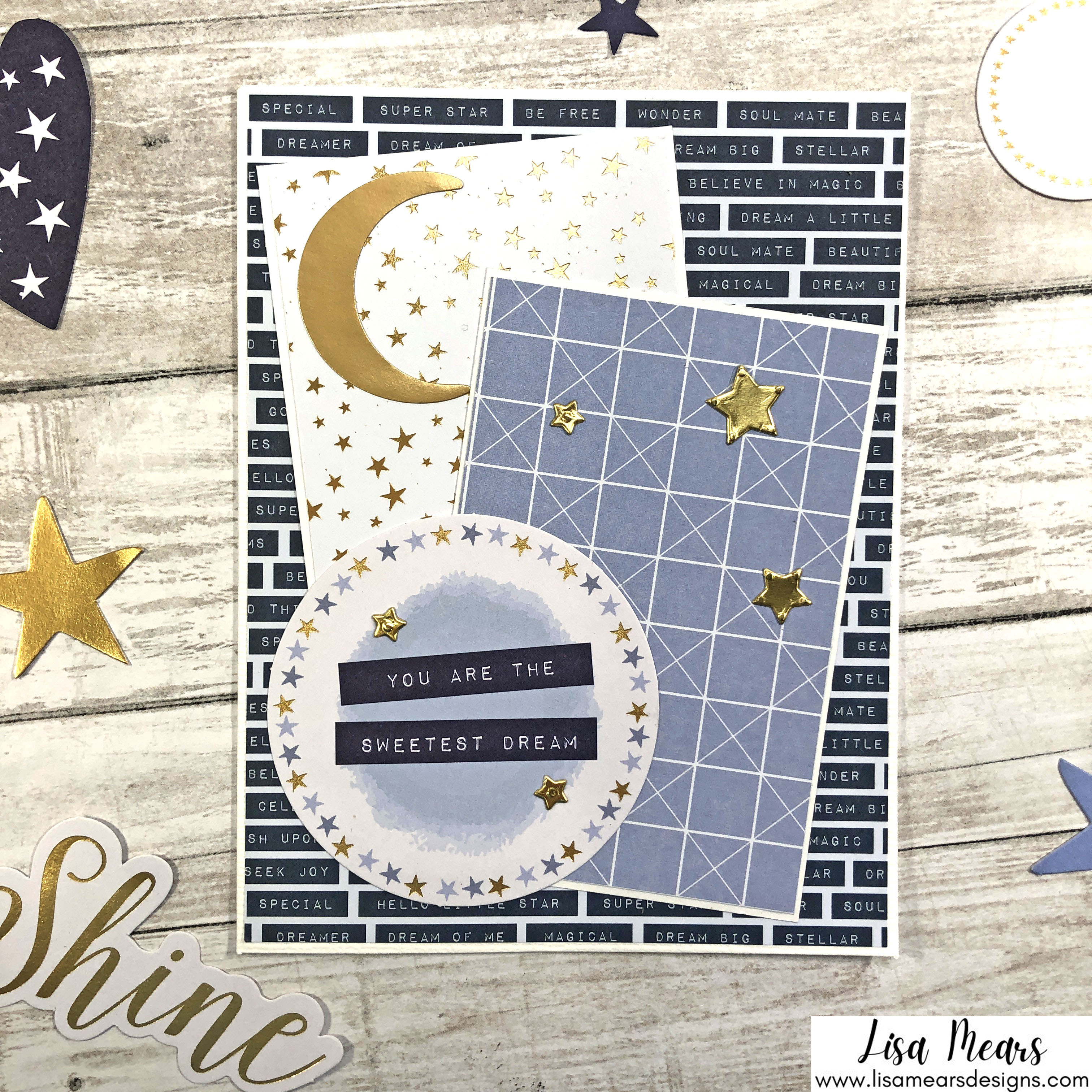 Spellbinders October 2021 Card Kit - You are Stellar! Card with stars