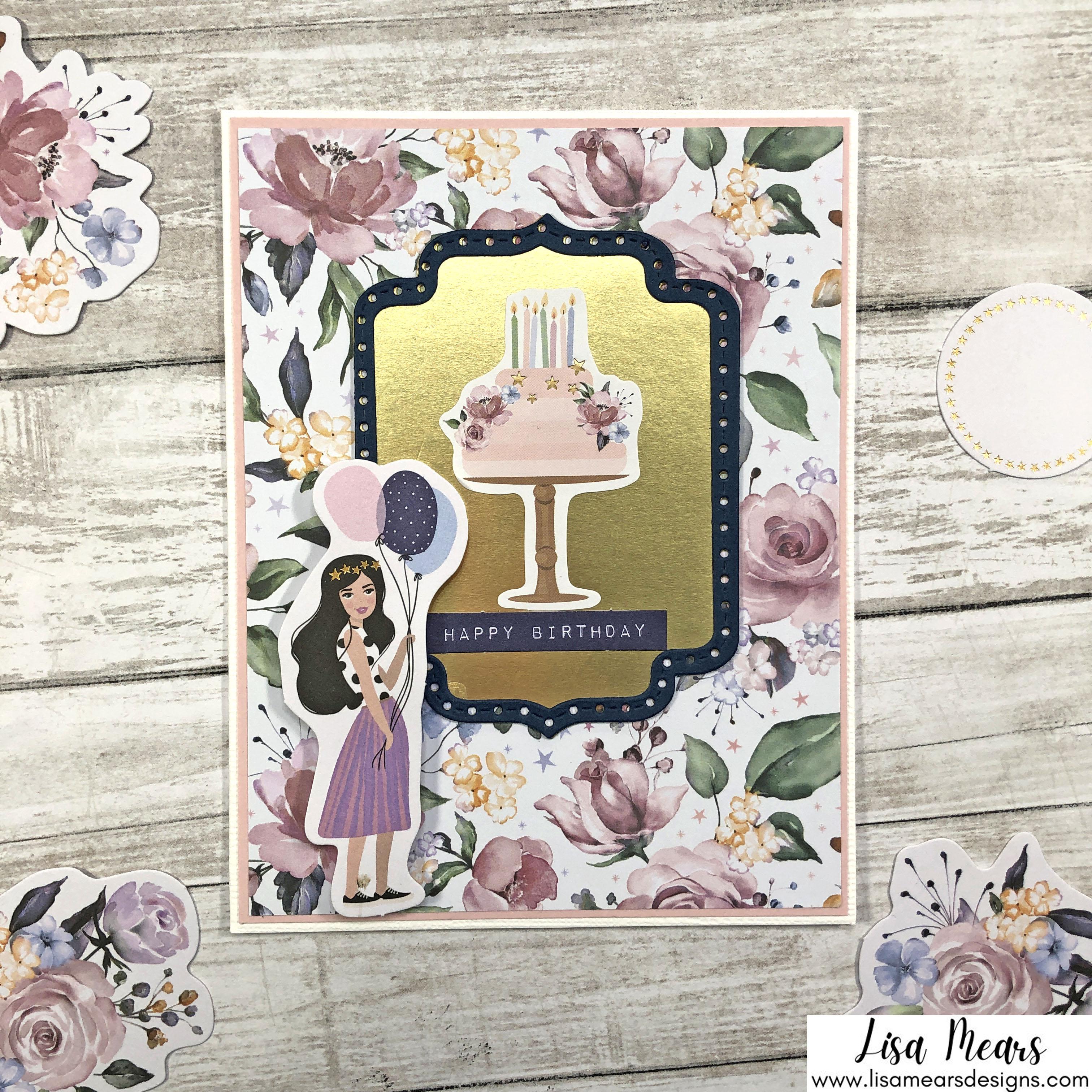Spellbinders October 2021 Card Kit - You are Stellar! Birthday Cake Card