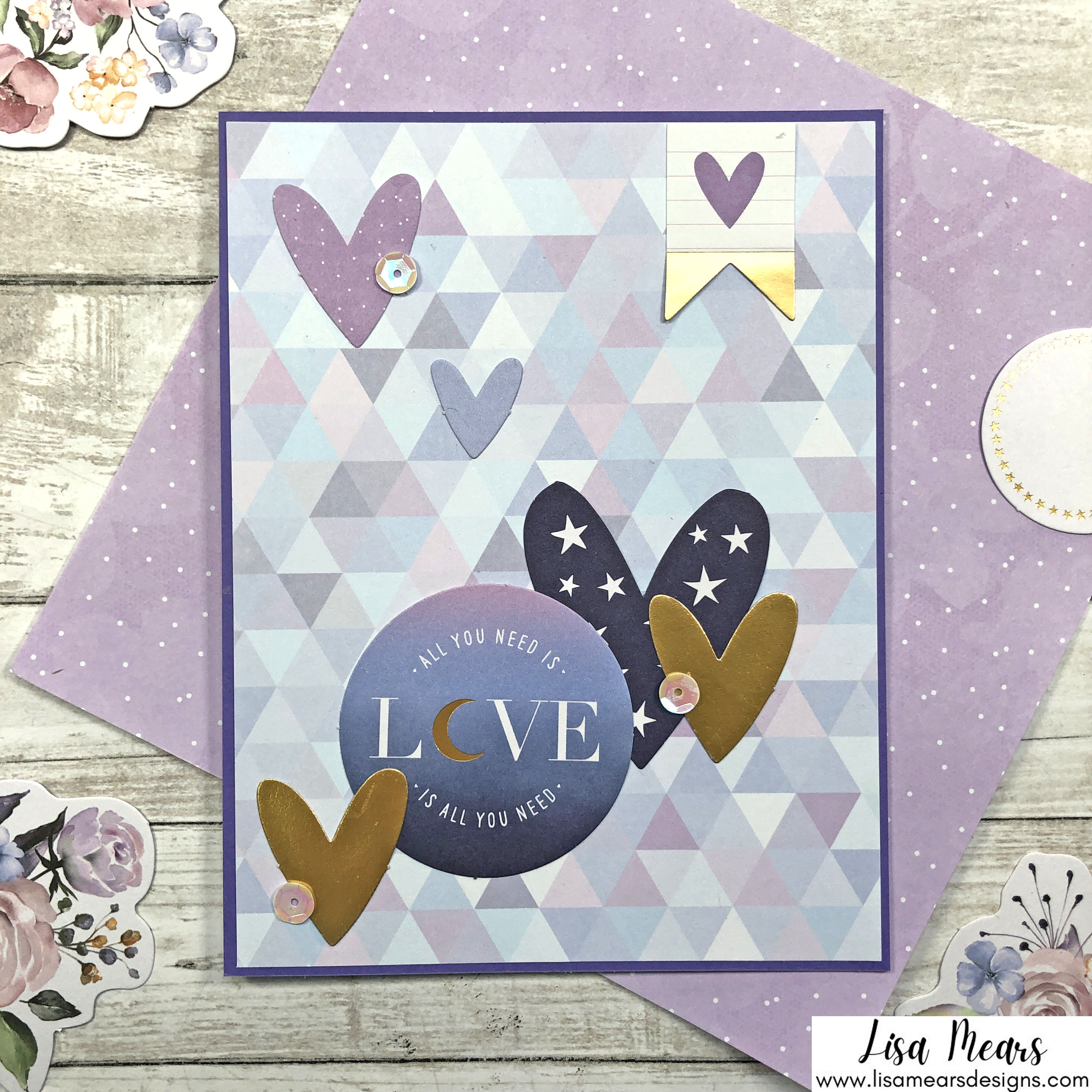 Spellbinders October 2021 Card Kit - You are Stellar! Card with Hearts