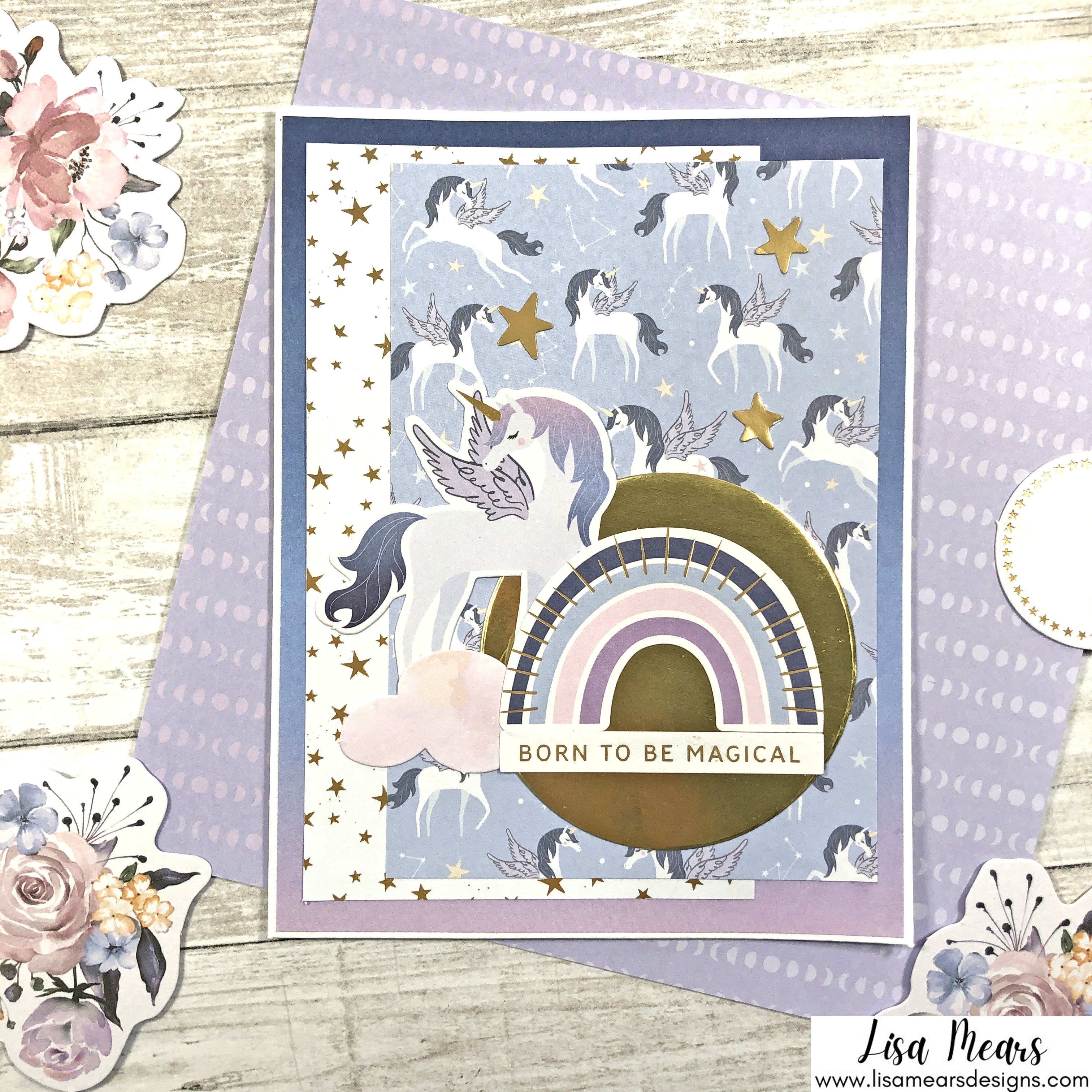 Spellbinders October 2021 Card Kit - You are Stellar! Card with Unicorn