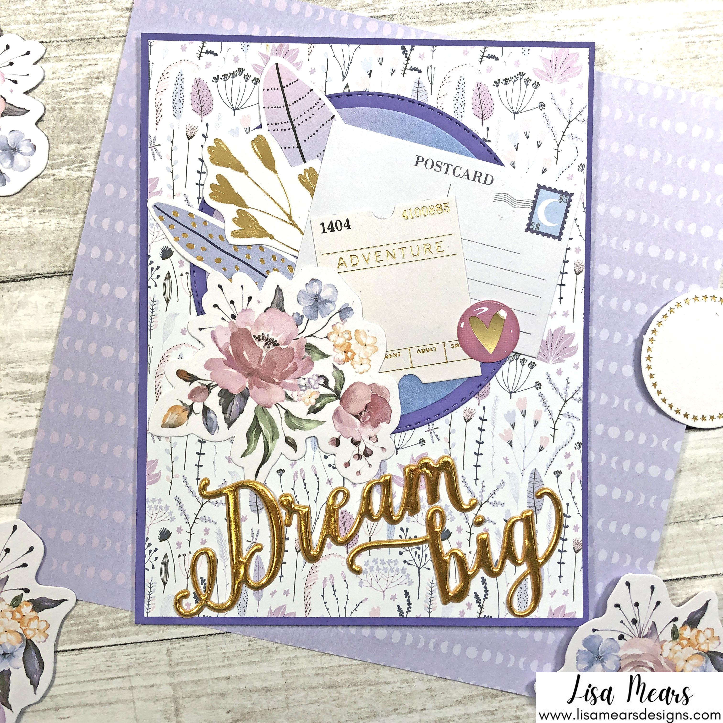 Spellbinders October 2021 Card Kit - You are Stellar! Dream Big Card