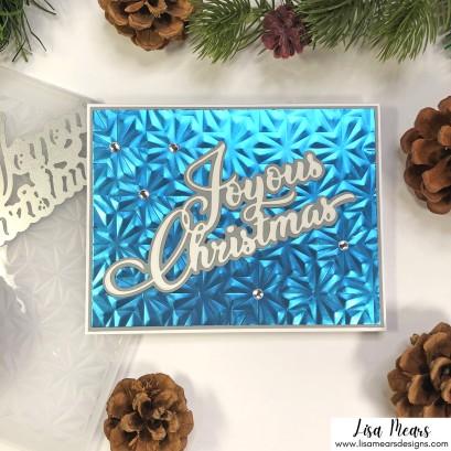 Simon Says Stamp - Peace of Earth Collection - Christmas Cards - Joyous Christmas