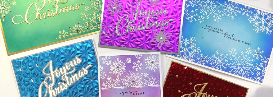 Simon Says Stamp - Peace of Earth Collection - Christmas Cards with Snowflakes