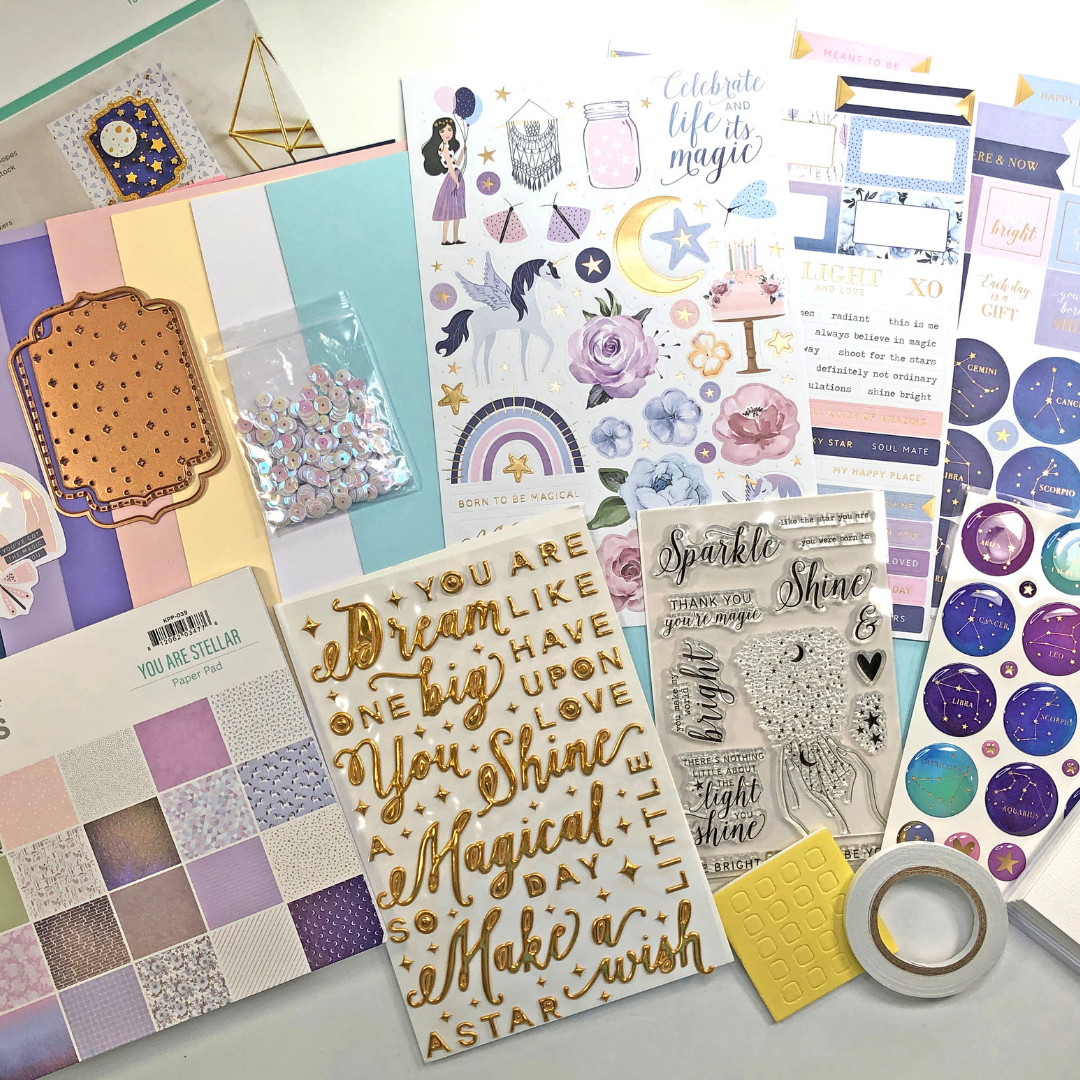 Spellbinders October 2021 Card Kit - You are Stellar!